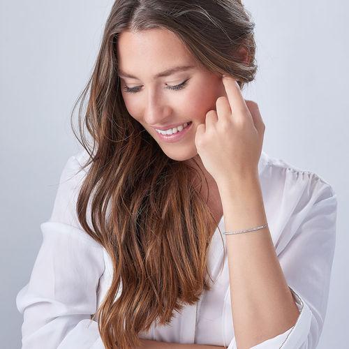 Säädettävä nimilaattarannekoru kuutiozirkoni-inserteillä - 2