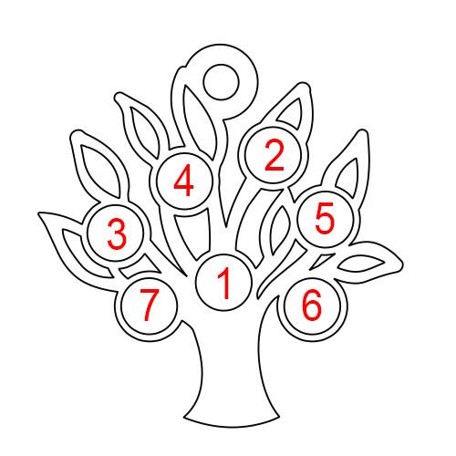 Sukupuuriipus Kahdella Laatalla Ja Syntymäkivillä - 2
