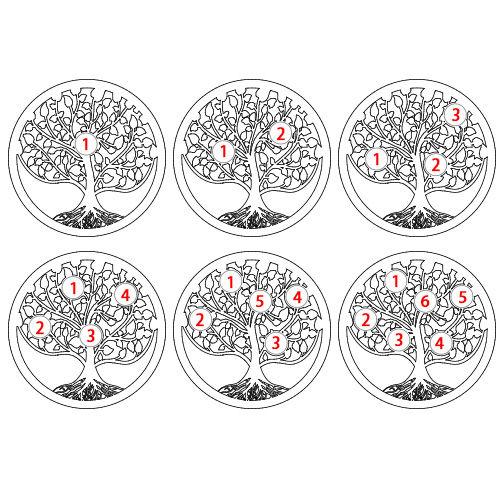 Kullattu sukupuu -sormus syntymäkivillä - 4