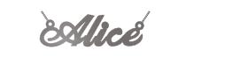 collier prenom alice