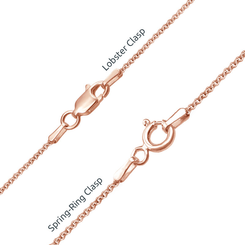 Vertical Infinity Name Necklace with Birthstones with Rose Gold Plating - 3