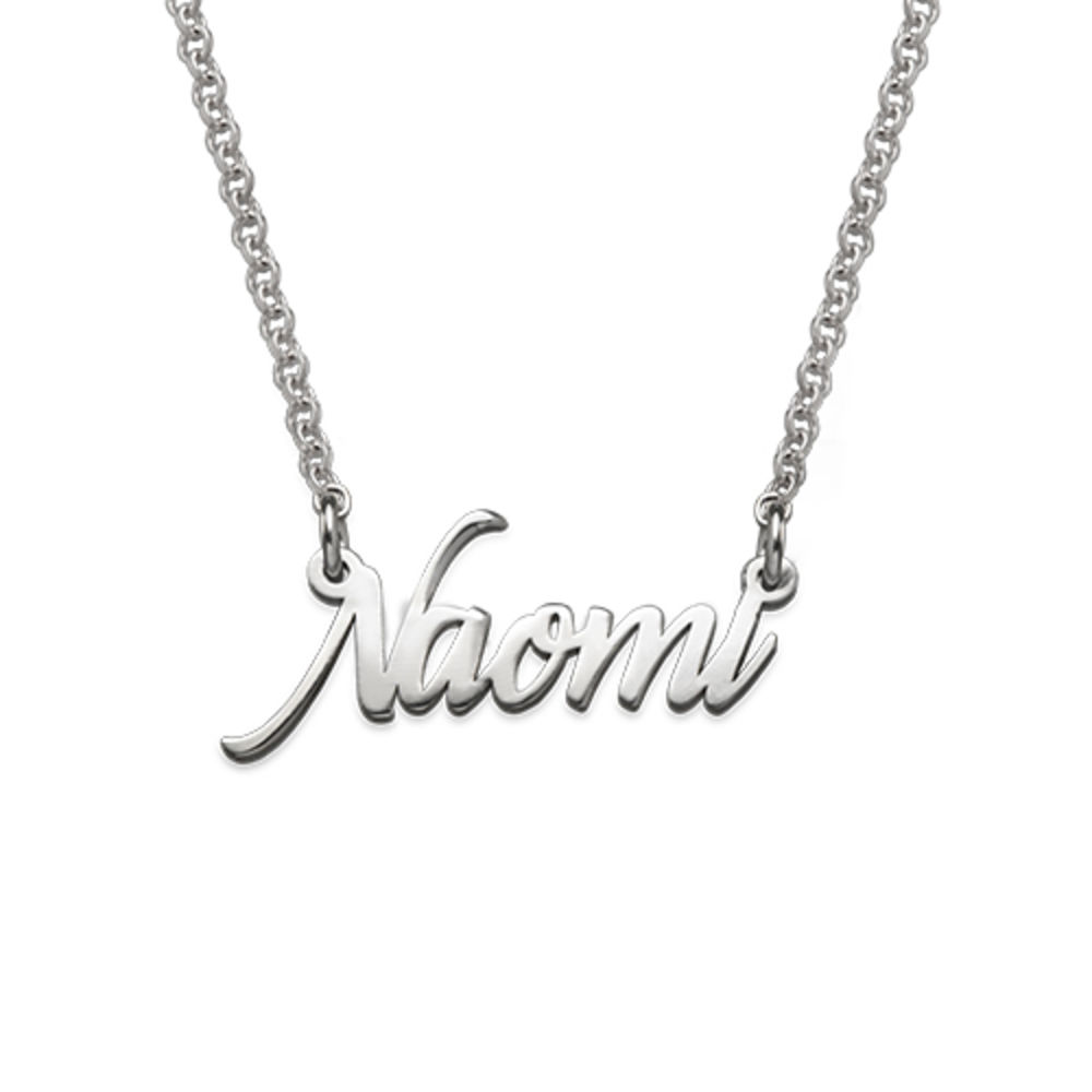 Tiny Name Necklace in Extra Strength Sterling Silver