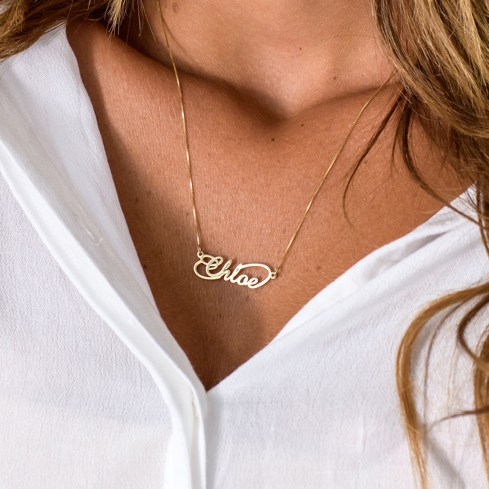 14ct Infinity Style Name Necklace - 1