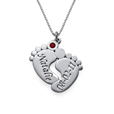 Baby Feet Necklace & ID Tag Set - 1