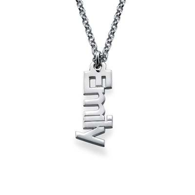 Vertical Name Necklace in Sterling Silver - 1