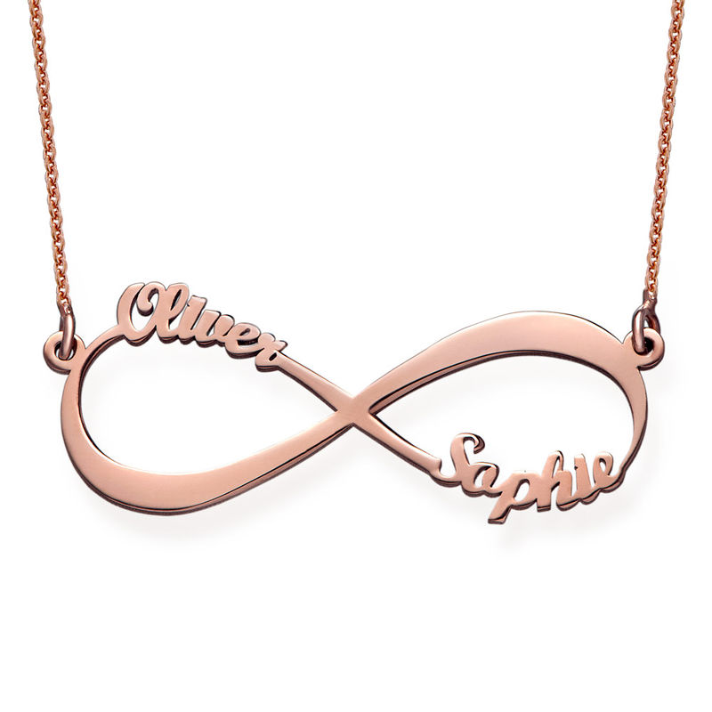 Infinity Name Necklace with Rose Gold Plating