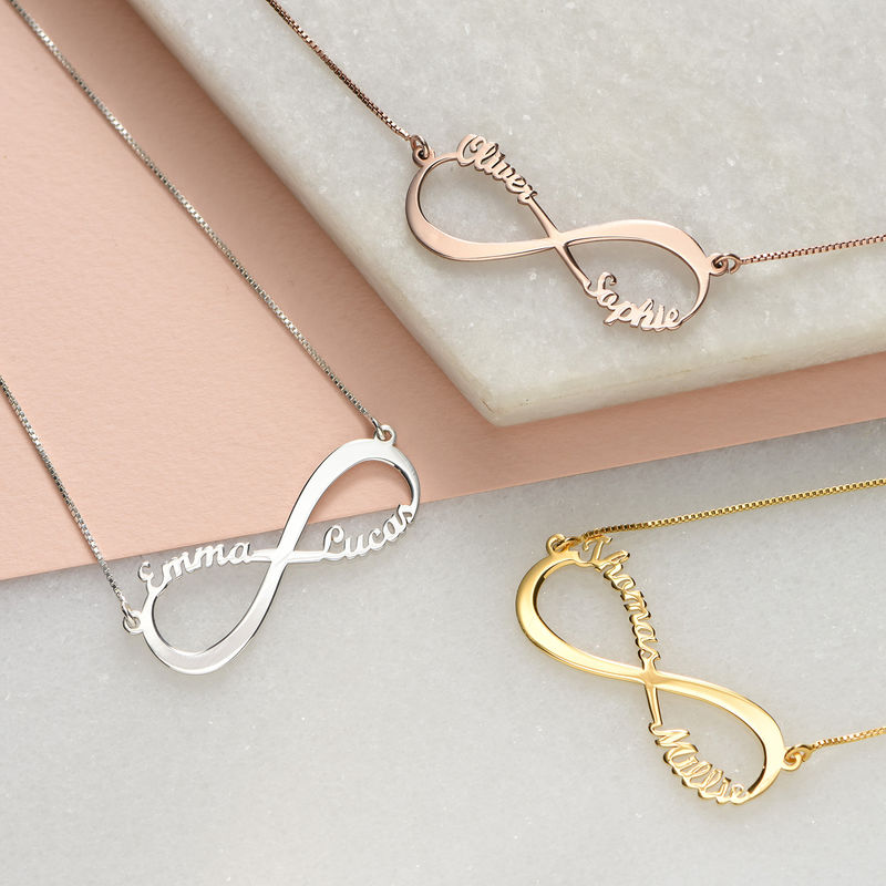 Infinity Name Necklace with Rose Gold Plating - 2