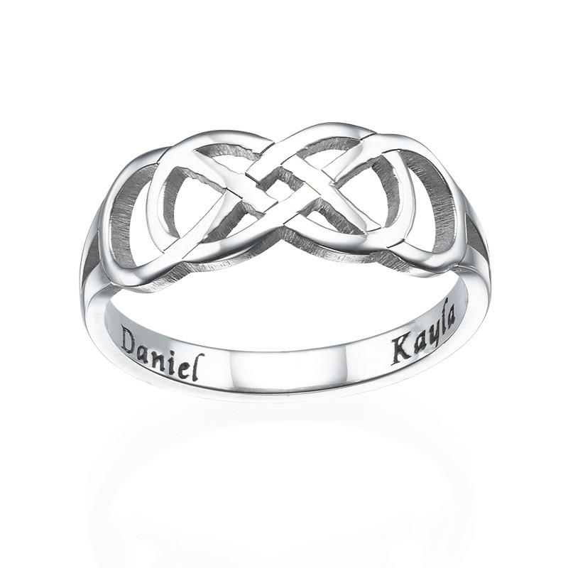 Double Infinity Ring with Inner Engraving - 1