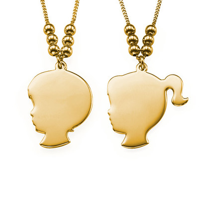 18ct Gold Plated Silhouette Necklace - 3