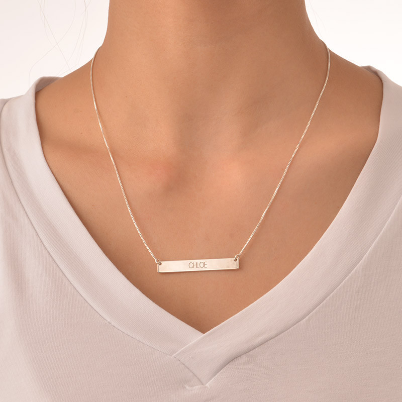 Bar Necklace in All Capital Letters - 1