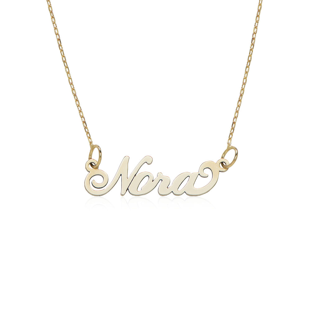 """Small 10ct Yellow Gold """"Carrie"""" Style Name Necklace"""