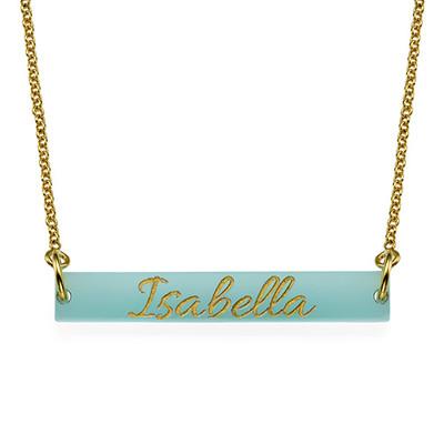 Engraved Acrylic Nameplate Necklace - 1