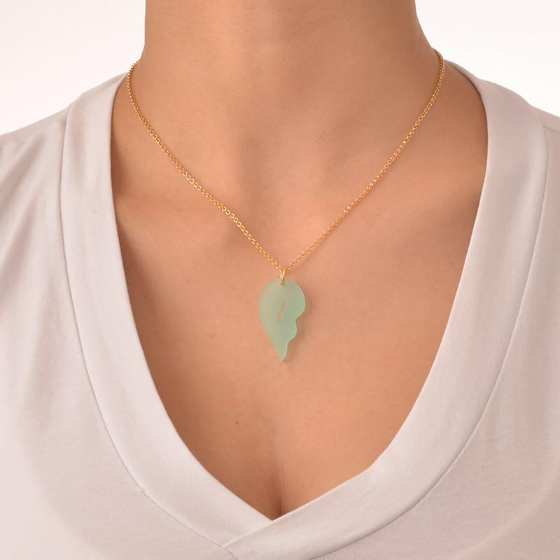 Acrylic Broken Heart Necklaces for couple - 2