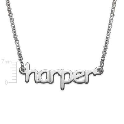 925 Sterling Silver Tiny Name Necklace