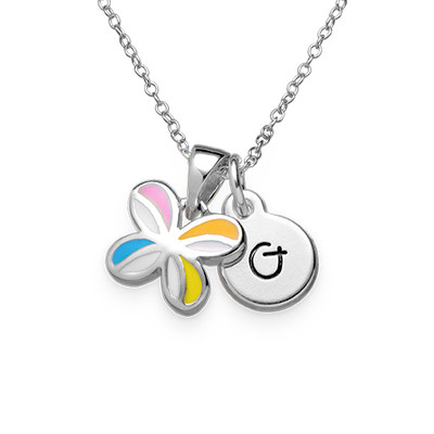 Multicolor Butterfly Pendant Necklace for Kids