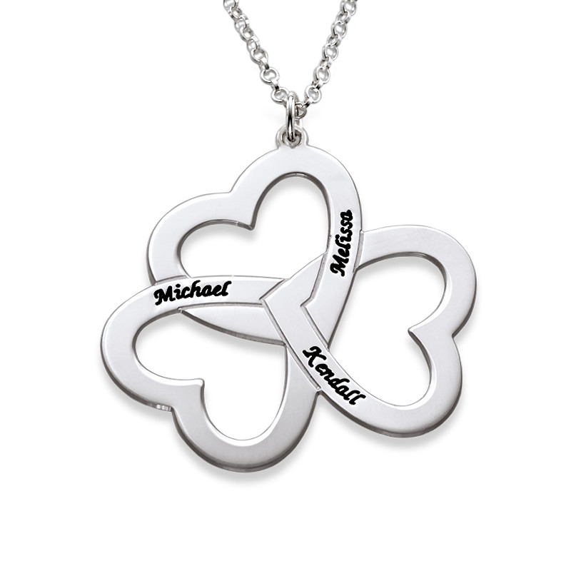 Personalised 3 Heart Necklace