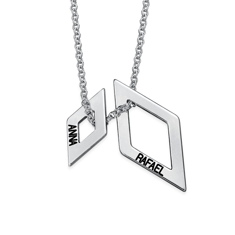 Personalised Geometric Necklace - 1