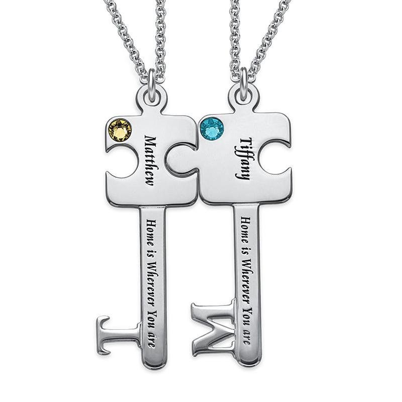 Personalised Puzzle Key Necklace Set