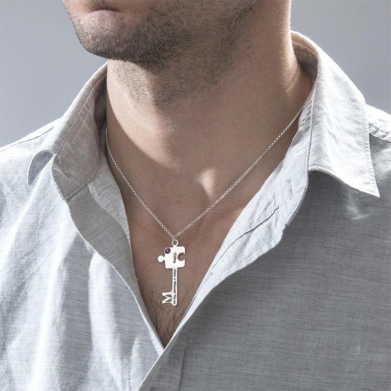 Personalised Puzzle Key Necklace Set - 4