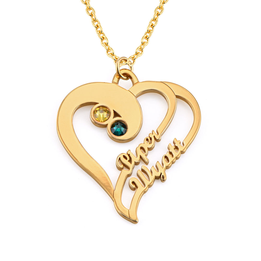 Two Hearts Forever One Necklace in 1ct Gold Vermeil