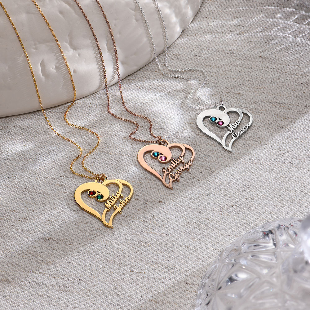 Two Hearts Forever One Necklace in 1ct Gold Vermeil - 1