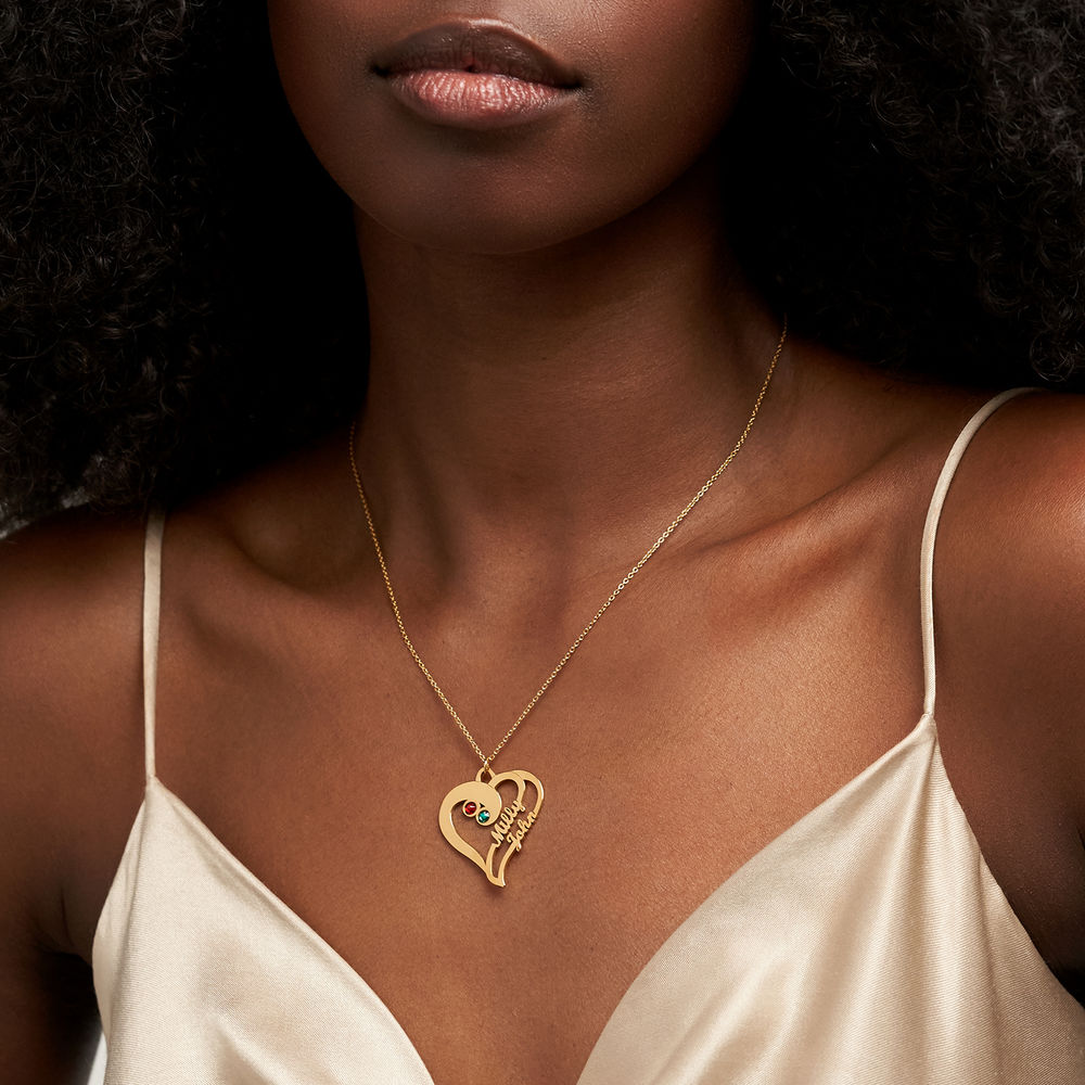 Two Hearts Forever One Necklace in 1ct Gold Vermeil - 2