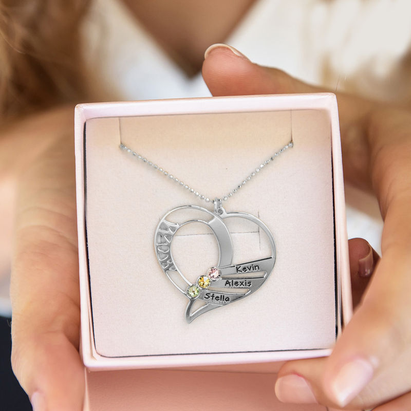 Engraved Mum Birthstone Necklace - 7