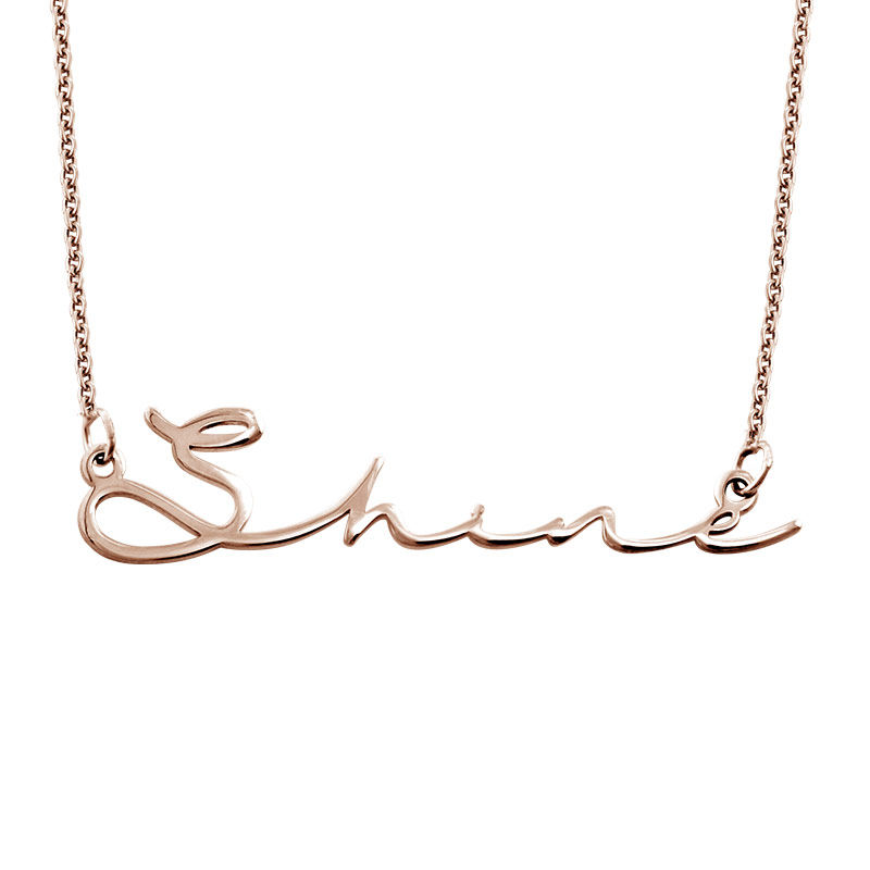 Signature Style Name Necklace - Rose Gold Plated - 1