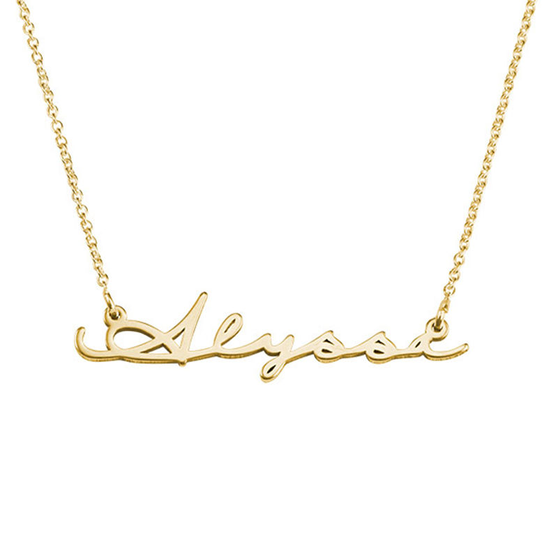 Signature Style Name Necklace Gold Vermeil