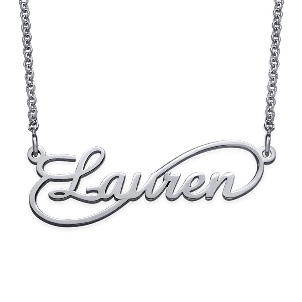 Signature Infinity Style Name Necklace