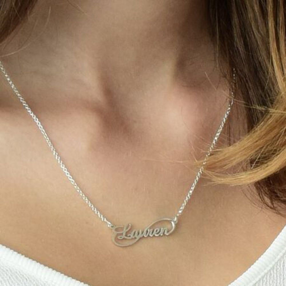 Signature Infinity Style Name Necklace - 1