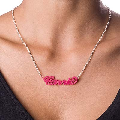 Acrylic Name Necklace - Carrie Style - 2