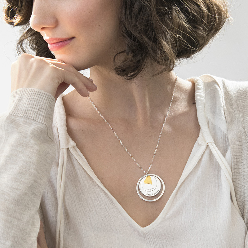 Love Discs Necklace in Silver - 2