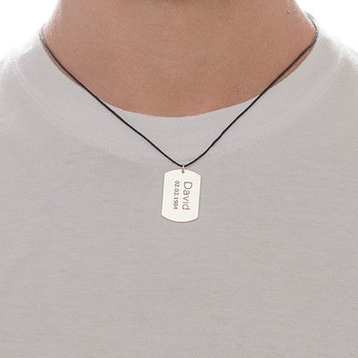 Silver Heart Necklace & Dog Tag Set - 4
