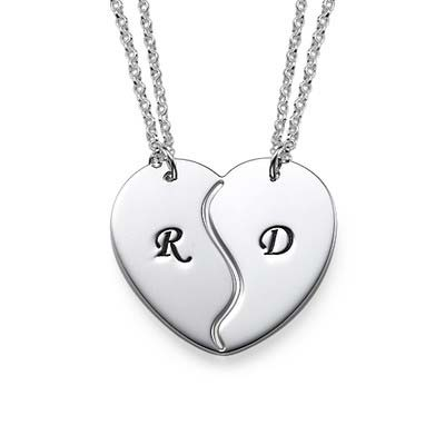 Personalised Initials on Breakable Heart Necklaces