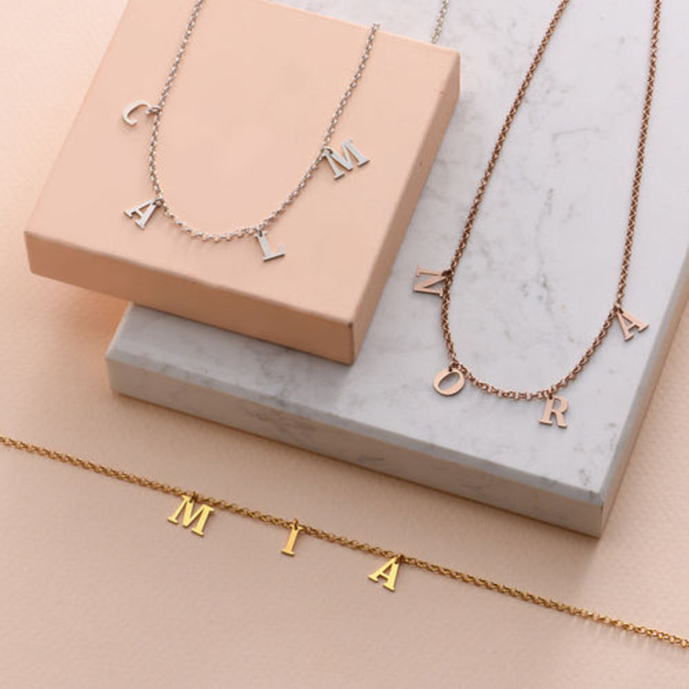 Name Choker with 18ct Gold Plating - 3