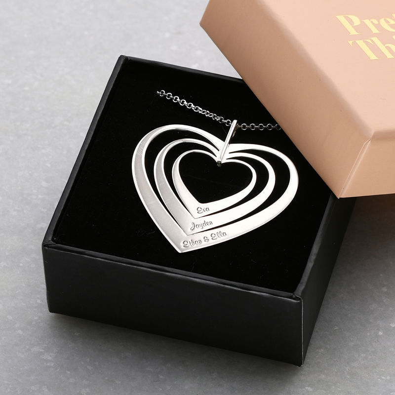 Family Hearts necklace in Silver Sterling - 4