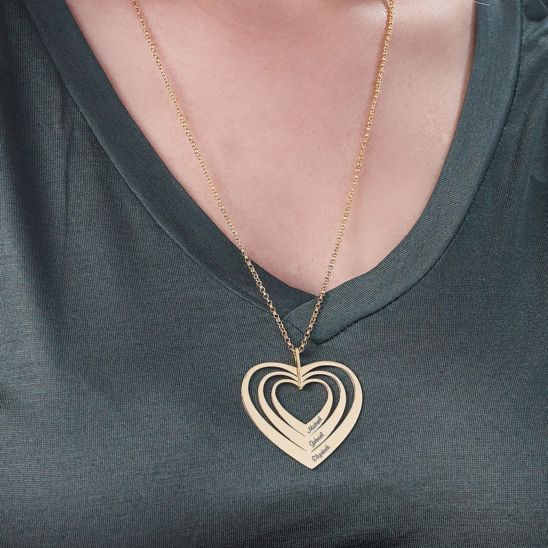 Family Hearts necklace in Gold Plating - 3