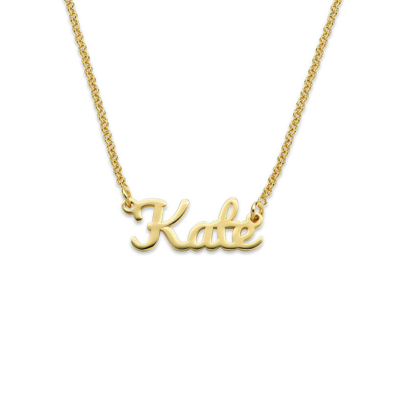 Script Name Necklace with 18ct Gold Plating - 1