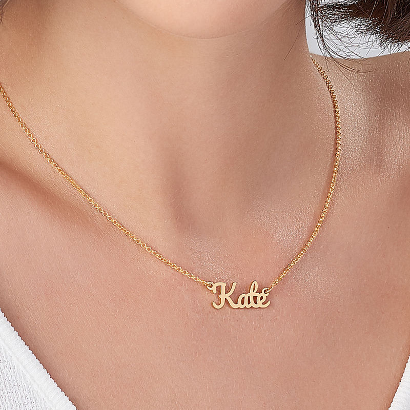 Script Name Necklace with 18ct Gold Plating - 3