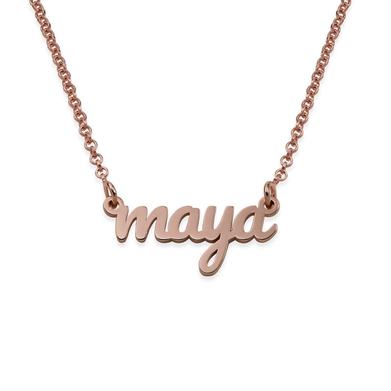 Script Name Necklace with 18ct Rose Gold Plating