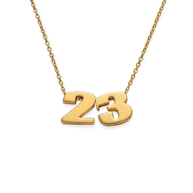 Number Pendant Necklace in Gold Plating