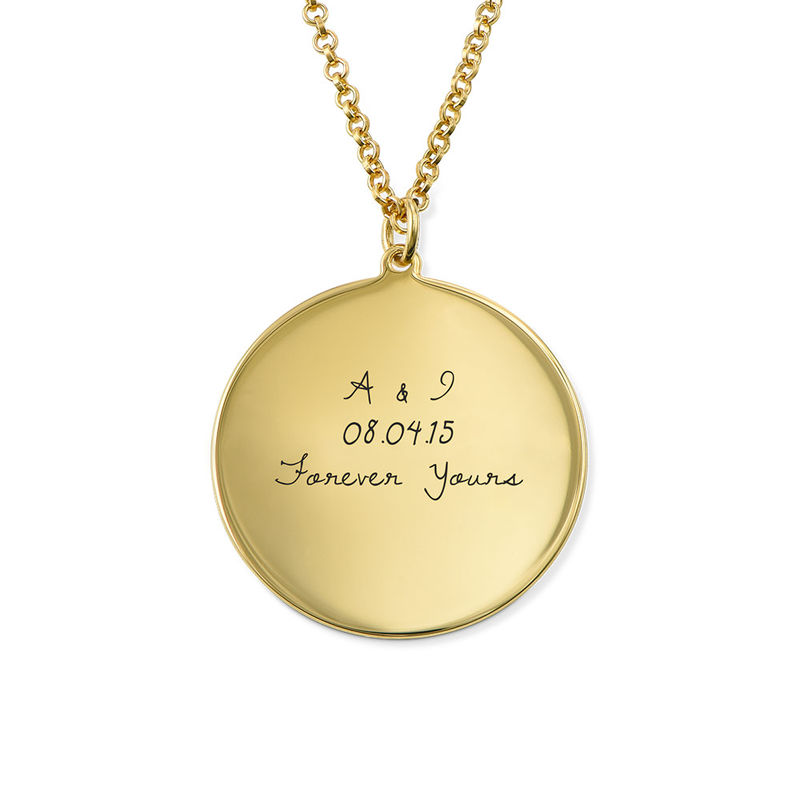 Handwritten Style Necklace in Gold Plating - 1