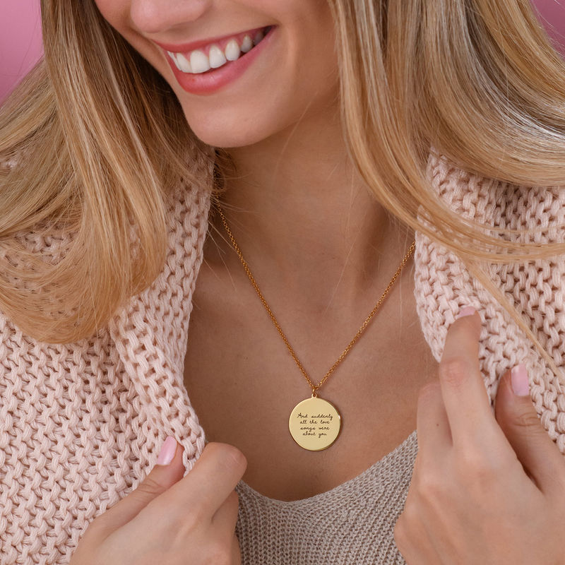 Handwritten Style Necklace in Gold Plating - 4