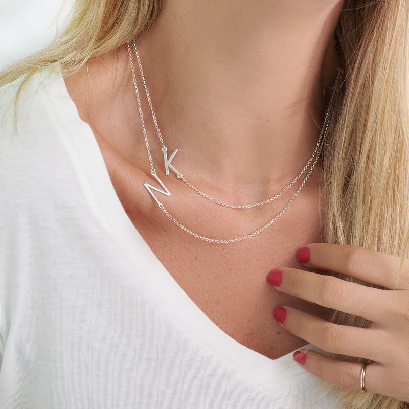 Two Sideways Initial Necklaces - 2