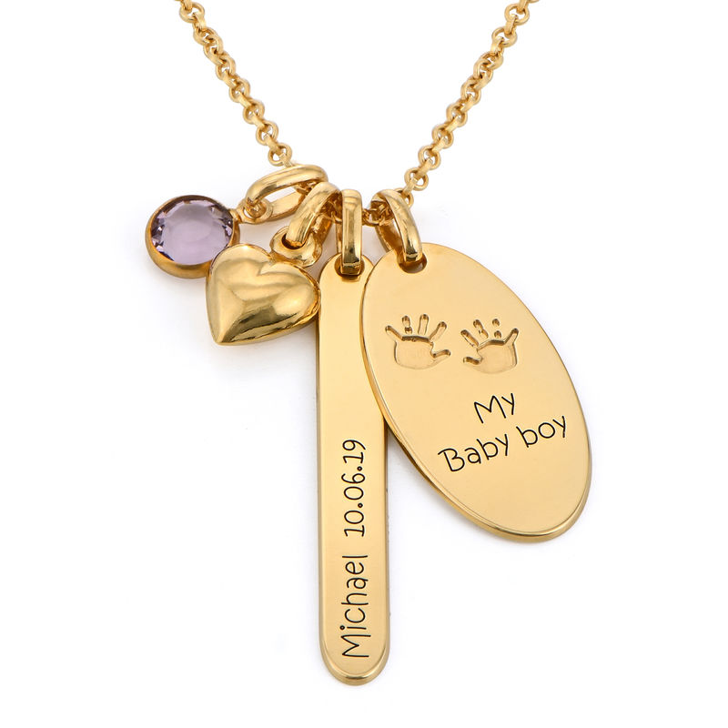 Personalised Mum Charm Necklace in Gold Plating