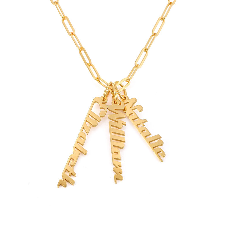 Chain Link Name Necklace in 18ct Gold Plating
