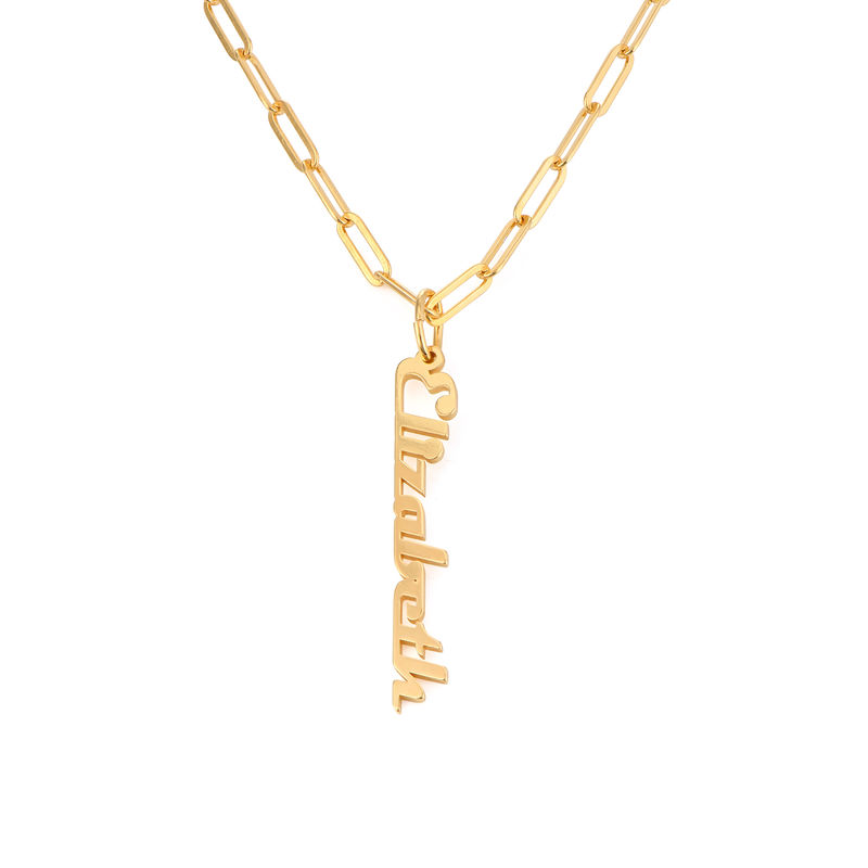 Chain Link Name Necklace in 18ct Gold Plating - 1