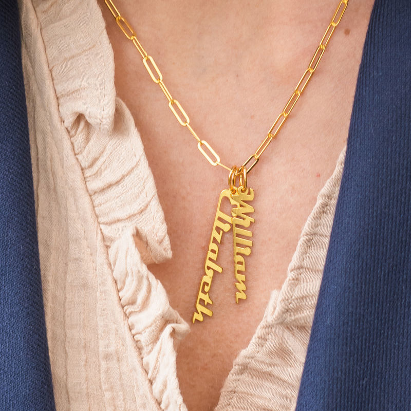 Chain Link Name Necklace in 18ct Gold Plating - 3
