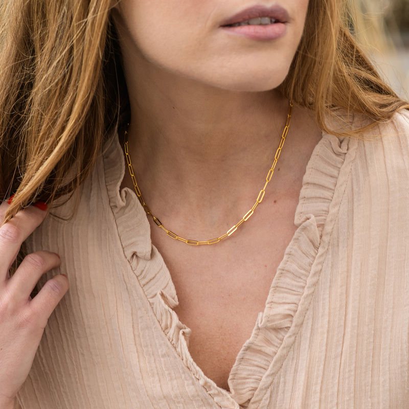 Chain Link Necklace in 18ct Gold Plating - 1